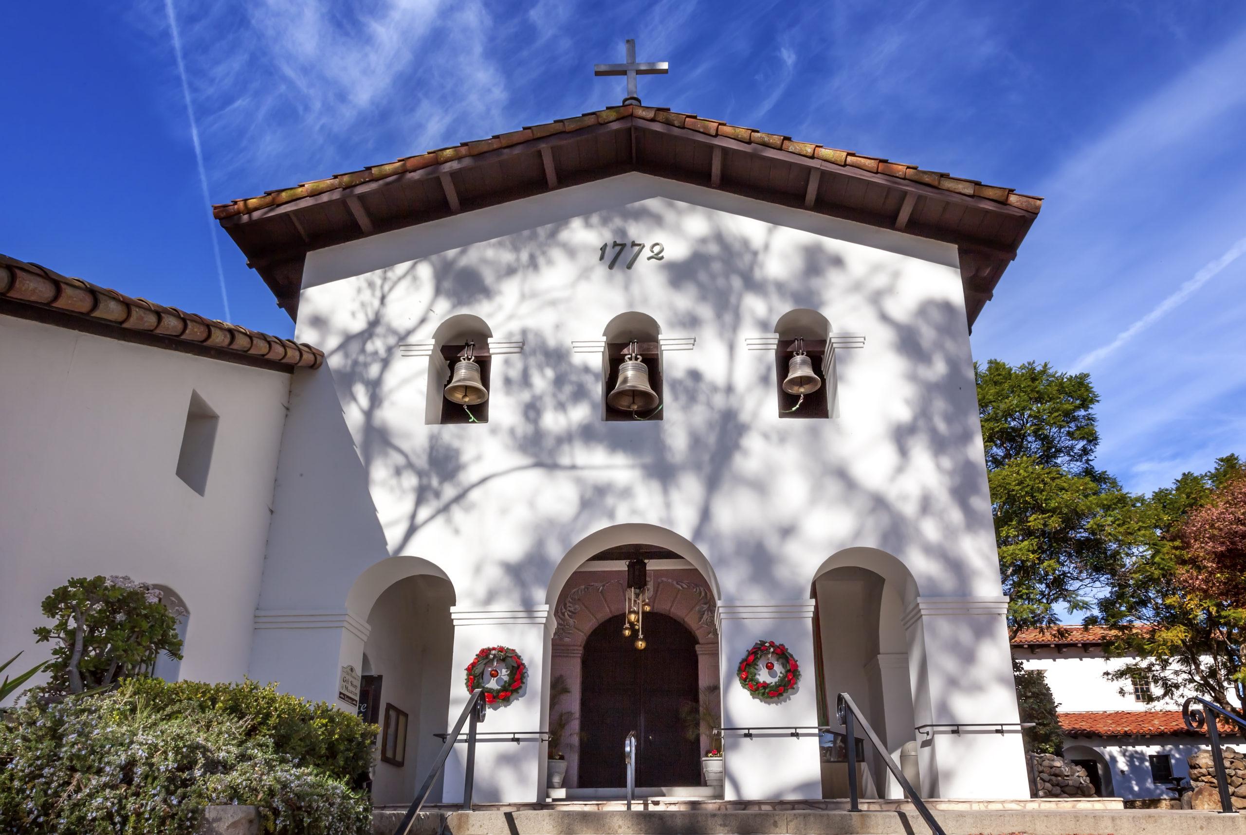 Mission San Luis Obispo de Tolosa Facade Bells Cross